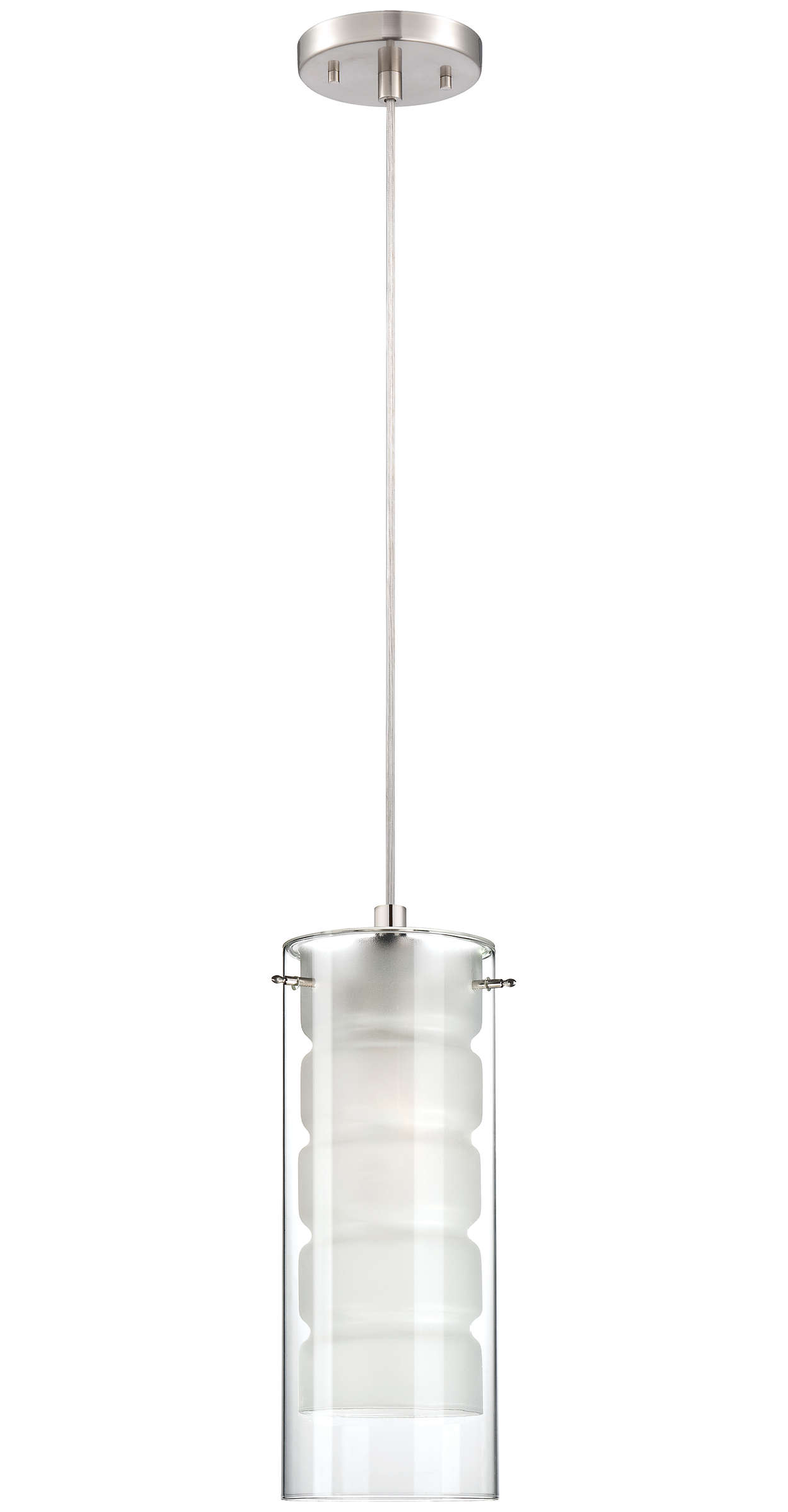 Envelop 1-light Pendant in Satin Nickel finish