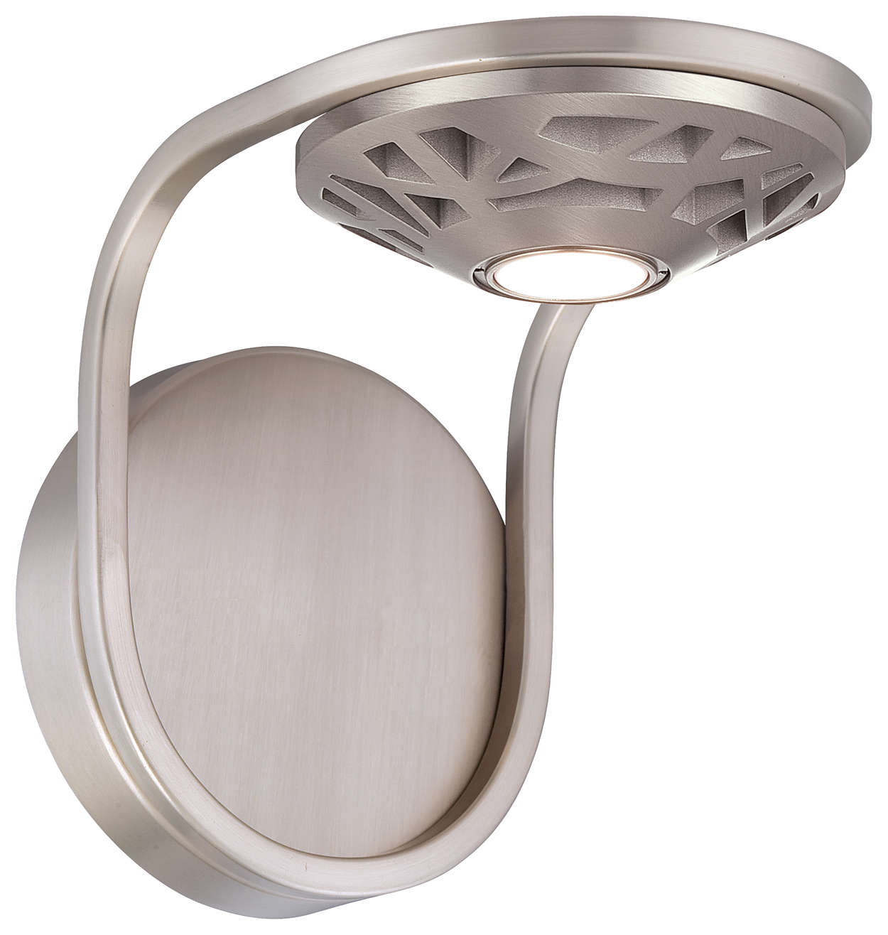 Amsta LED Wall in Satin Nickel finish