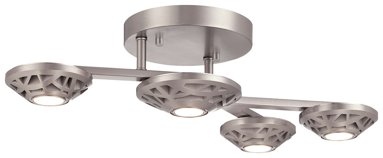 Amsta LED Ceiling in Satin Nickel finish