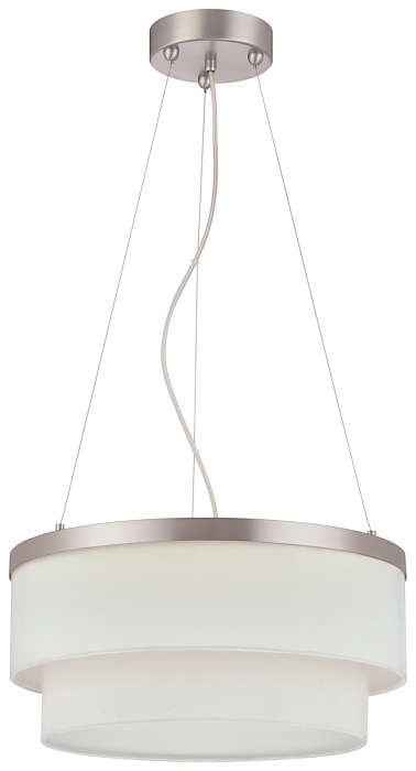 Channel LED Pendant in Satin Nickel finish