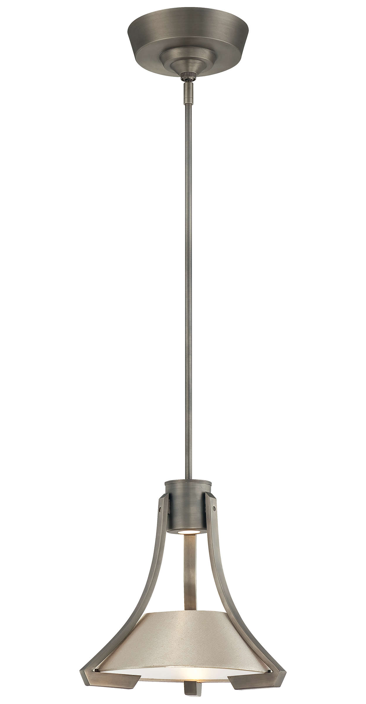 Beaux LED Pendant in Gun Metal finish