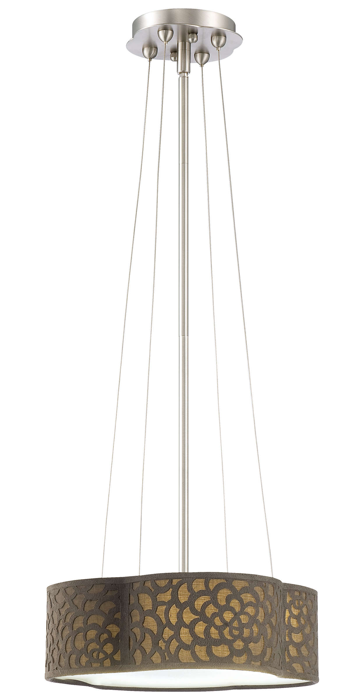Noe 2-light Pendant in Satin Nickel finish
