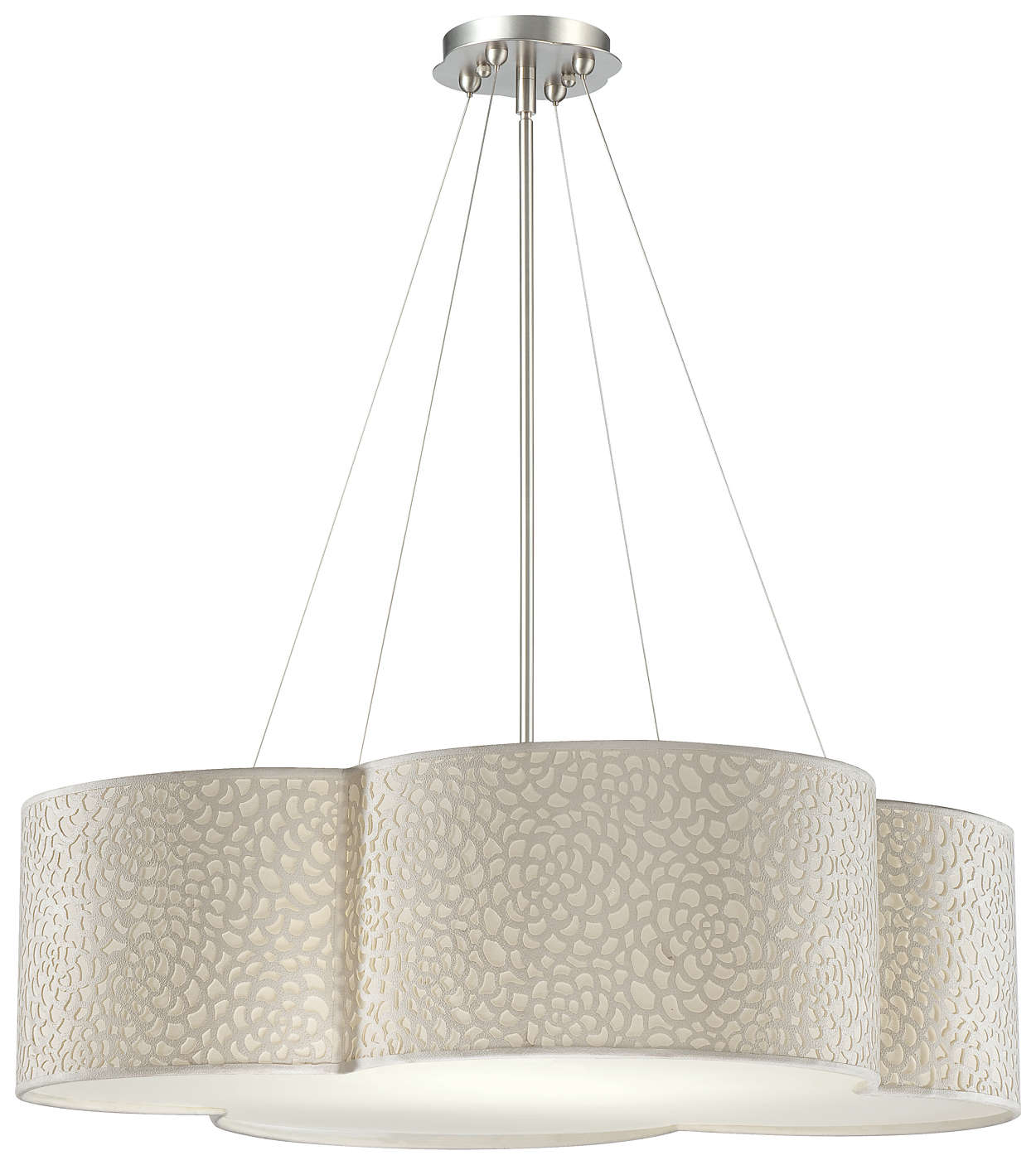 Noe 4-light Pendant in Satin Nickel finish