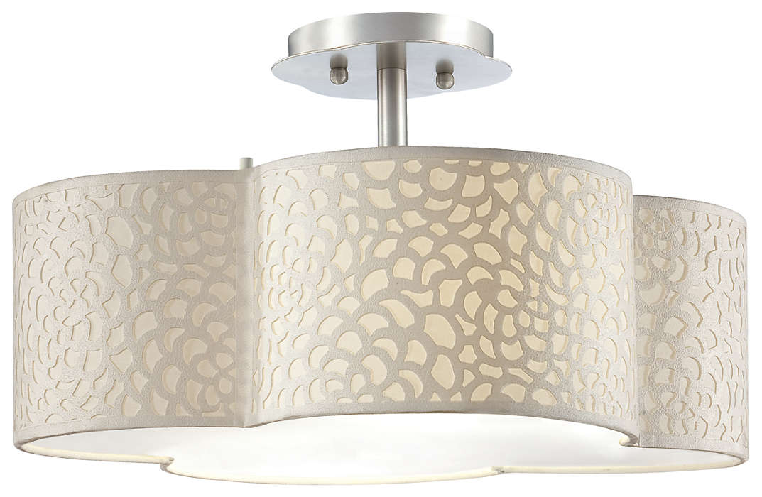 Noe 2-light Ceiling in Satin Nickel finish
