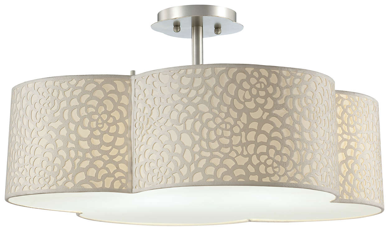 Noe 3-light Ceiling in Satin Nickel finish