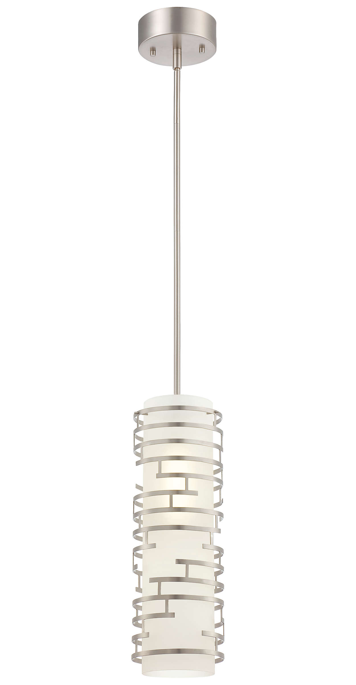 Labyrinth 1-light Pendant in Satin Nickel finish