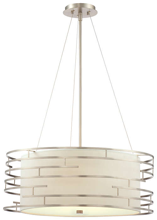 Labyrinth 3-light Pendant in Satin Nickel finish