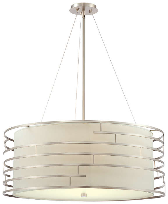 Labyrinth 4-light Pendant in Satin Nickel finish