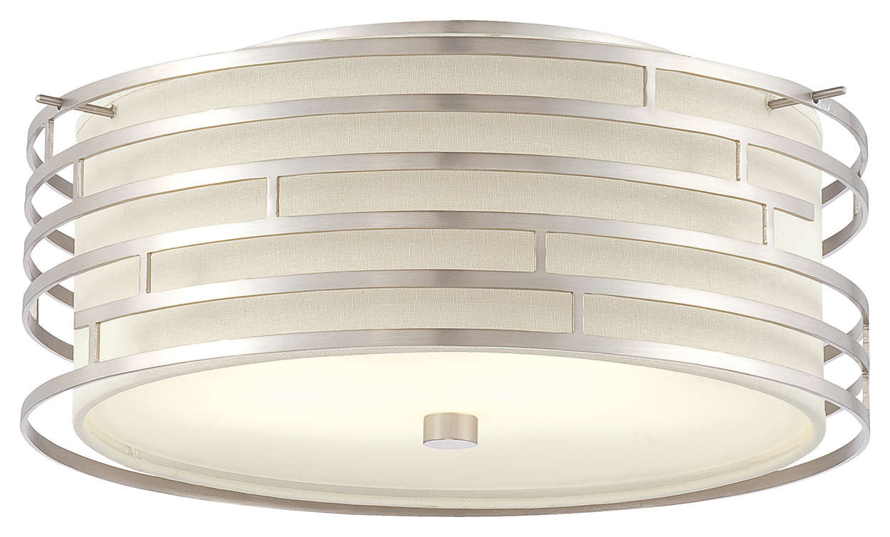 Labyrinth 2-light Pendant in Satin Nickel finish