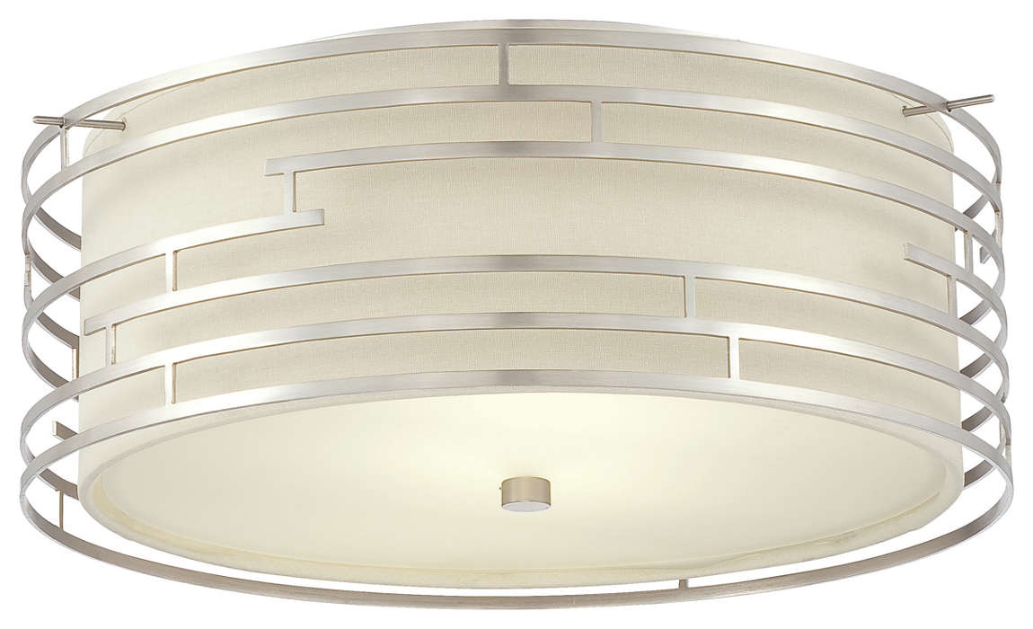 Labyrinth 3-light Pendant in Satin Nickel finish