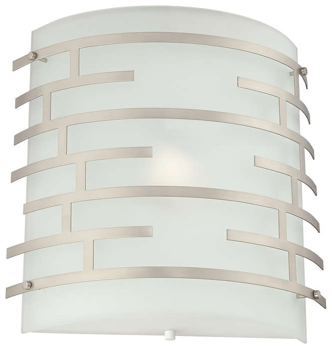 Labyrinth 1-light Wall in Satin Nickel finish