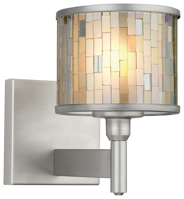 Mosaico 1-light Wall in Satin Nickel finish