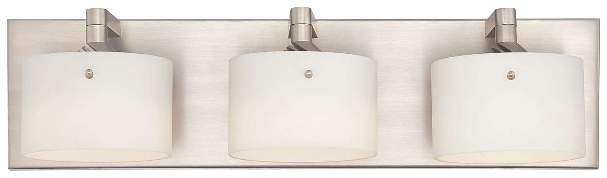 Yo-Yo 3-light LED Bath in Satin Nickel finish