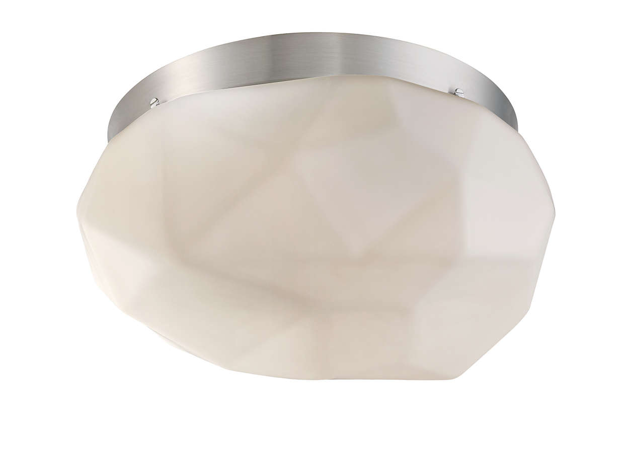 Facet 2-light Ceiling in Satin Nickel finish