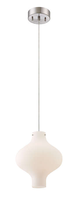 Abacus 1-light Pendant in Satin Nickel finish