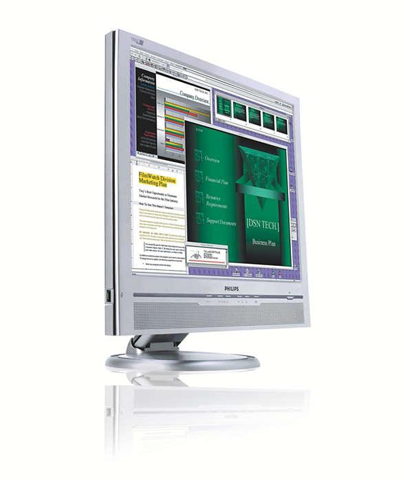 給高需求使用者的大型顯示器