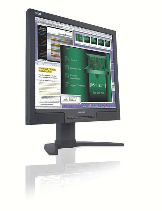 使用方便的大屏幕顯示器,為你提高效率