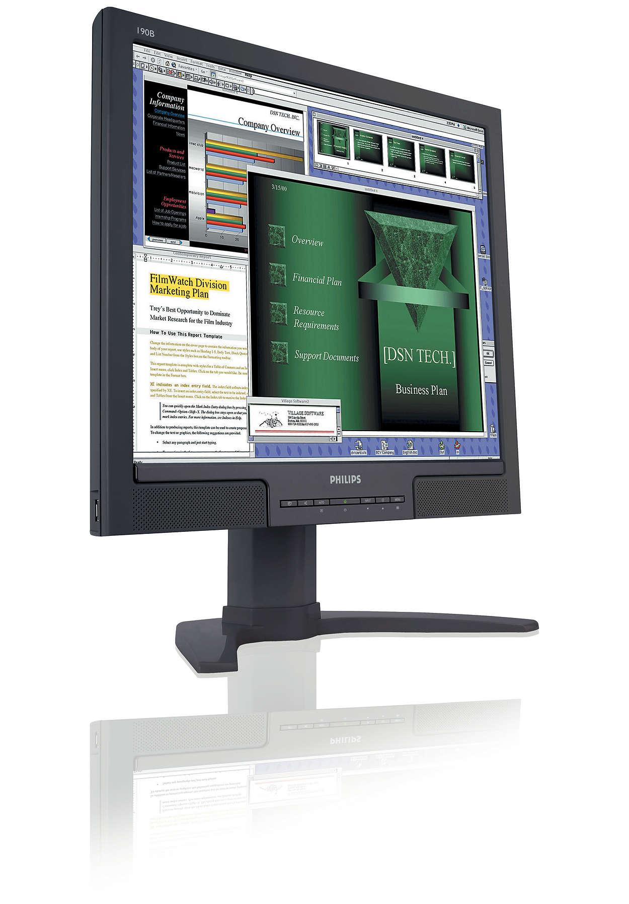 高生產力顯示器,帶來極大便利性