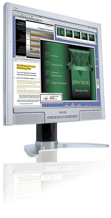 Skærm, der giver høj produktivitet og komfort