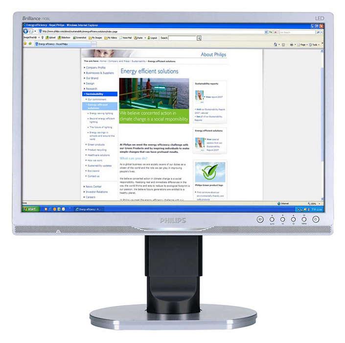 Ergonomisk skärm för företag förbättrar produktiviteten