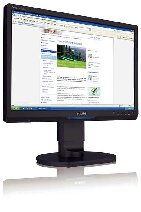 Ecran lat ergonomic de înaltă rezoluţie pentru afaceri