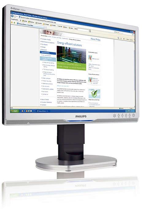 Widescreen ergonomico ad alta risoluzione per aziende