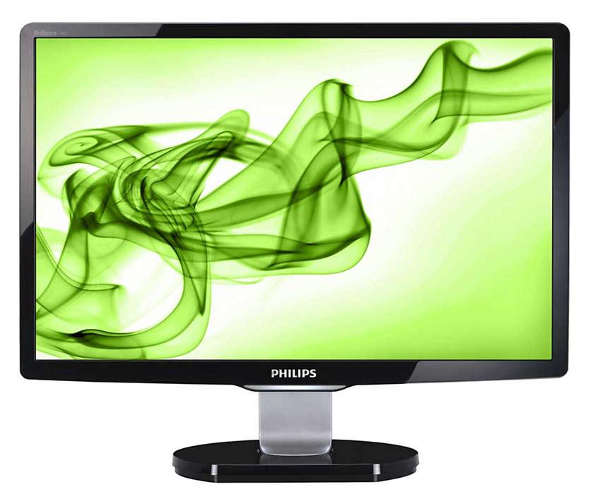 Elegante pantalla para ordenador con múltiples características