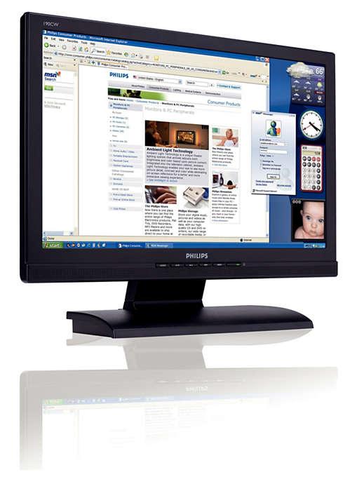 物超所值的寬螢幕 LCD 顯示器