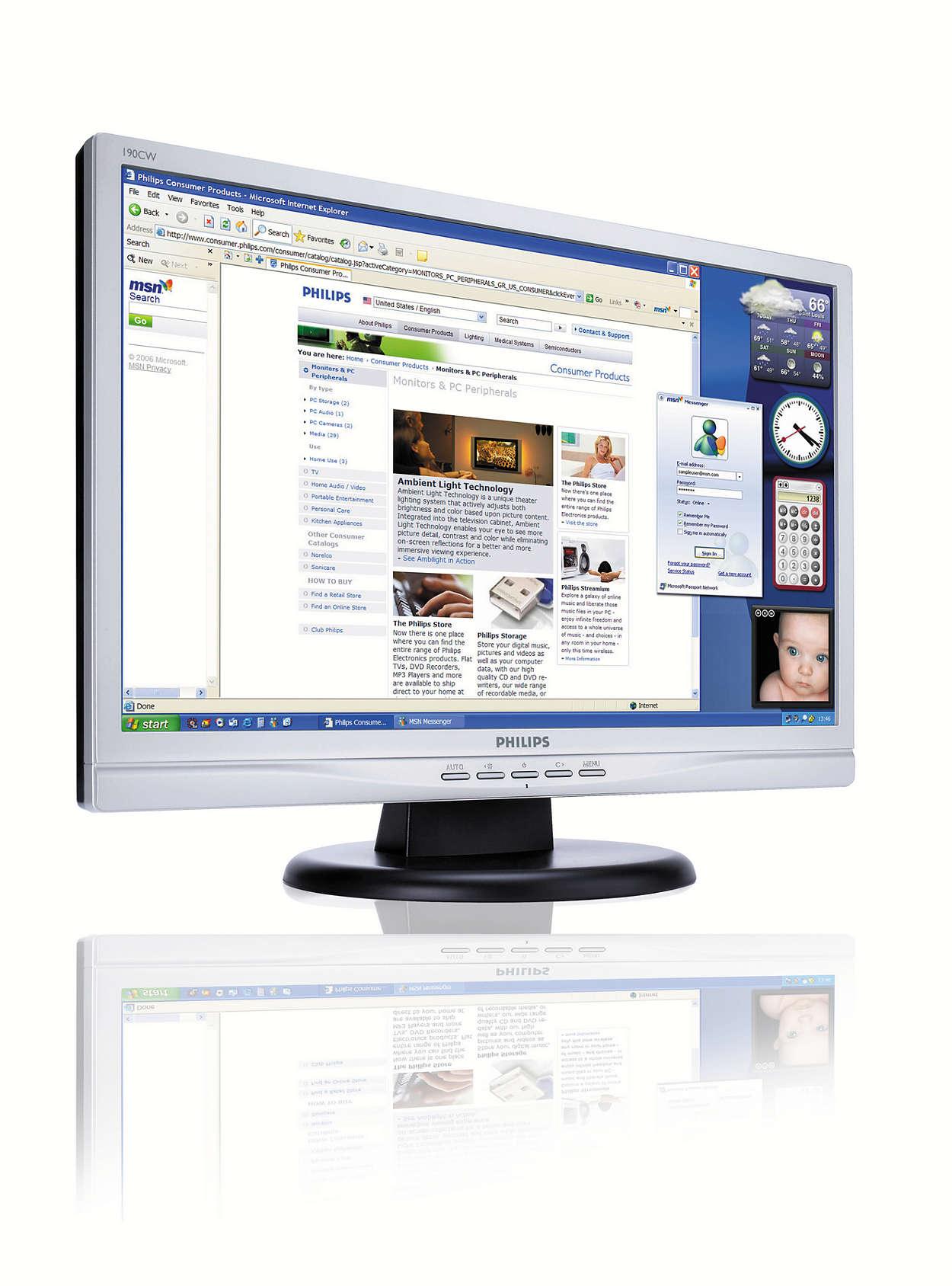 Monitor panoramic LCD la cel mai bun preţ