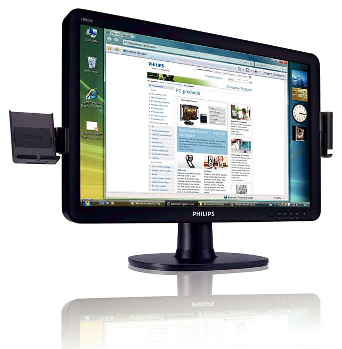 優雅的寬螢幕效能