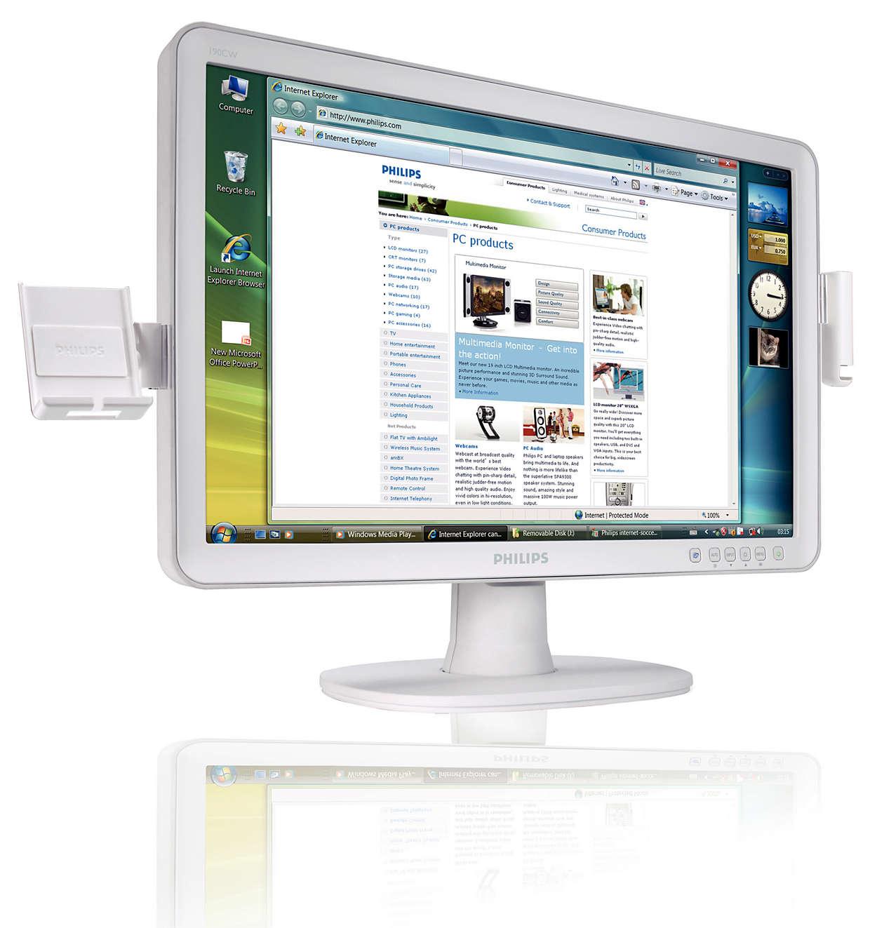Elegante monitor panorâmico de excelente desempenho