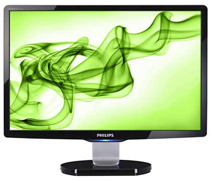 Duży, stylowy wyświetlacz do komputerowej rozrywki domowej