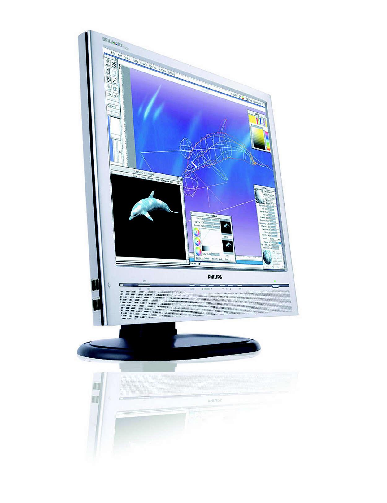 um fantástico grande ecrã para tarefas profissionais