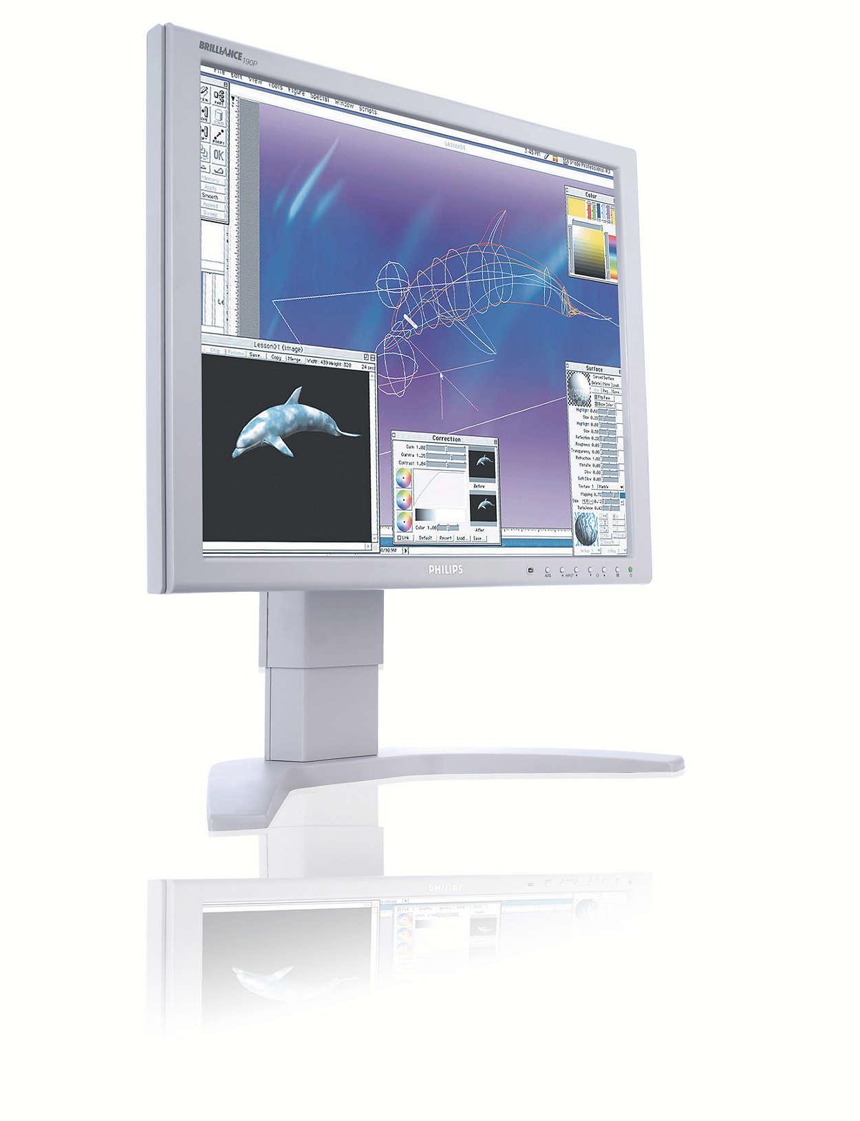 Suveren skjerm som er utformet for krevende profesjonelle