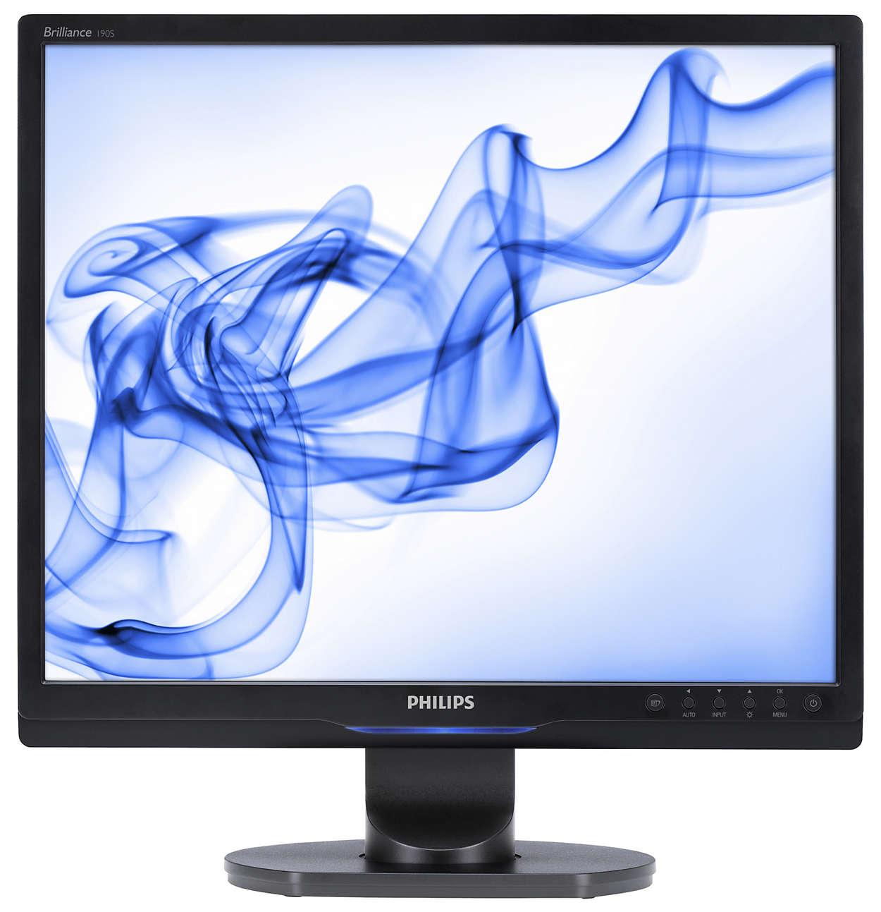 Bildskärm fullpackad med funktioner för ökad produktivitet