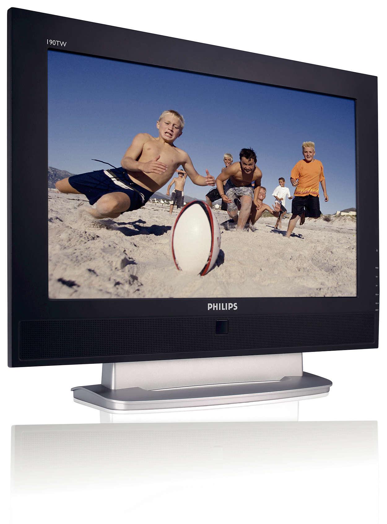 Voll ausgestattete Kombination aus LCD-Monitor und Fernsehgerät