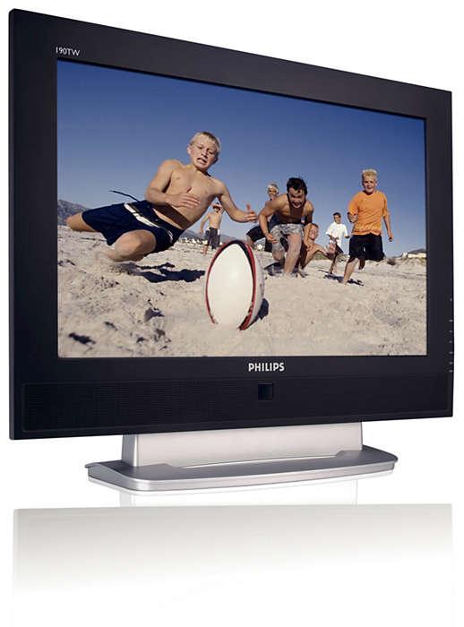 LCD-bildskärms- och TV-kombination med många funktioner