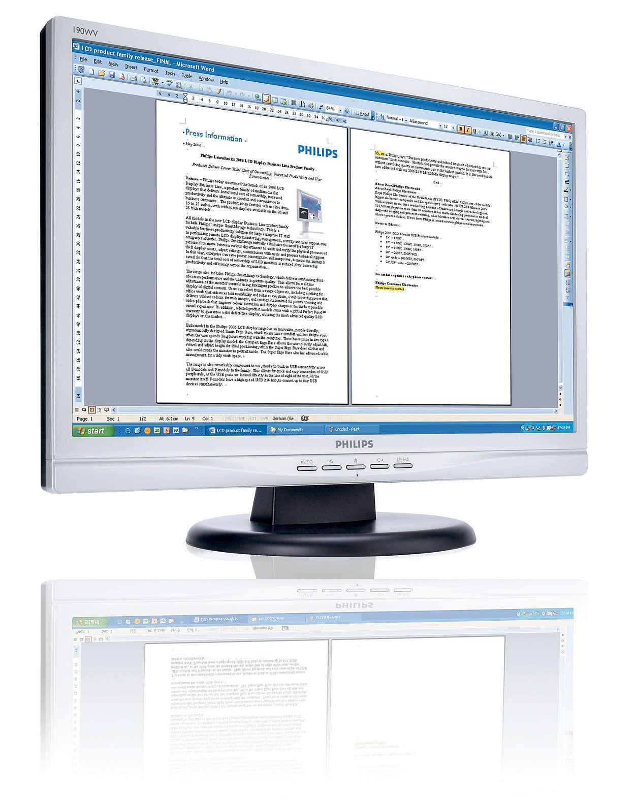 Kiváló ár/érték aránnyal rendelkező, széles képernyős monitor