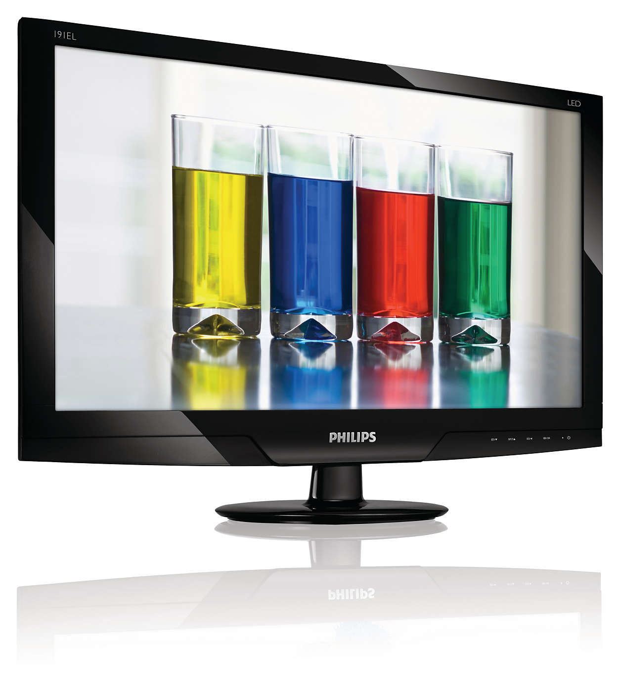Slim, attractive LED display with natural colors