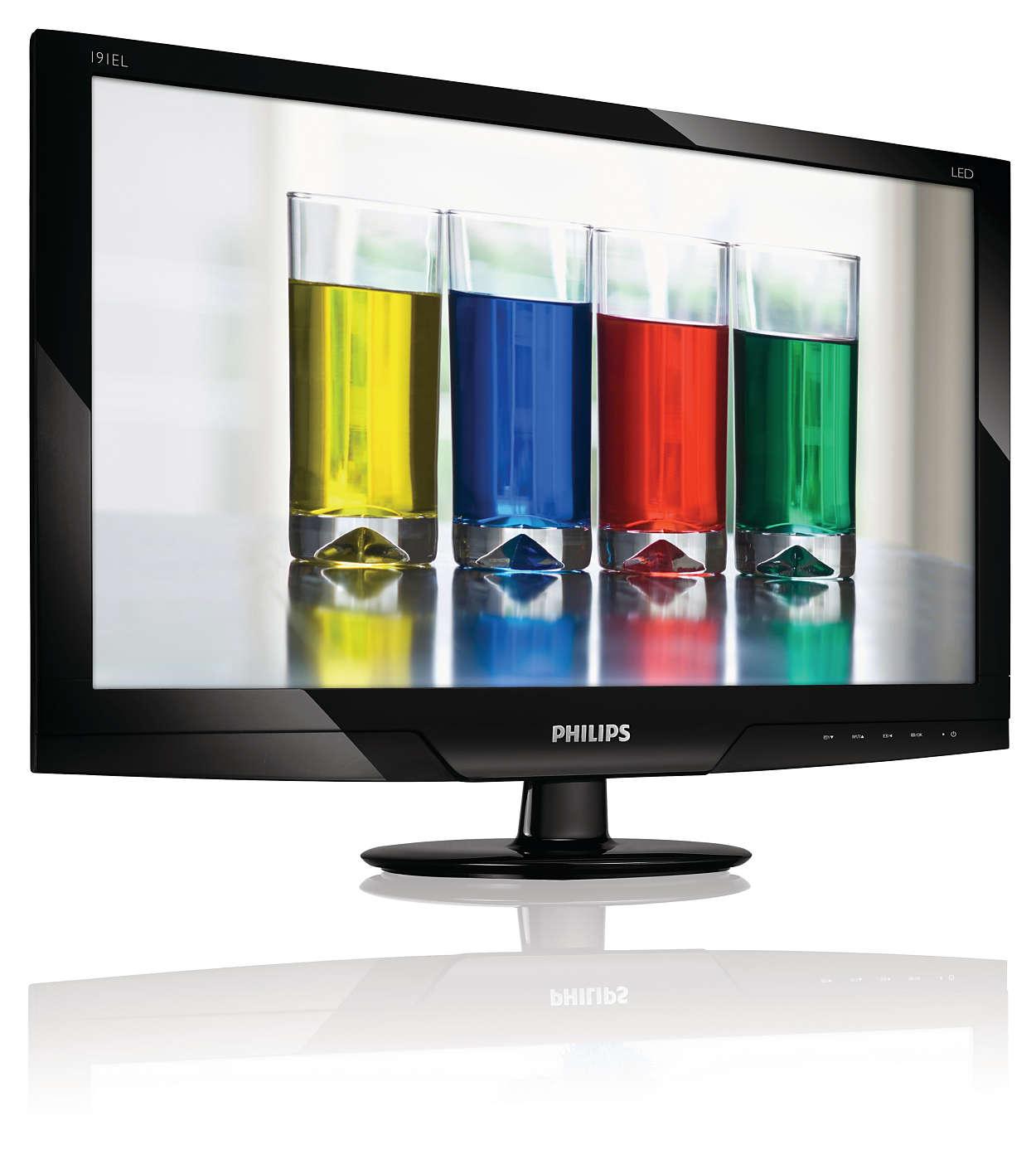 外型纖細動人的 LED 顯示器呈現自然色彩