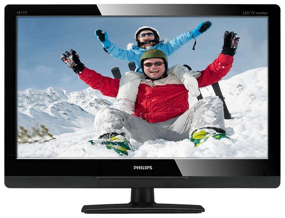 Disfruta de lo mejor de la TV en tu monitor LED HD