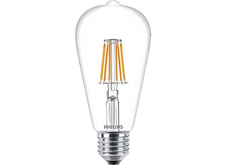 CLA LEDBulb ND 7.5-60W E27 WW ST64 CL
