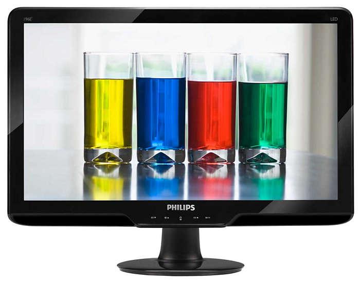 شاشة LED أنيقة بألوان طبيعية