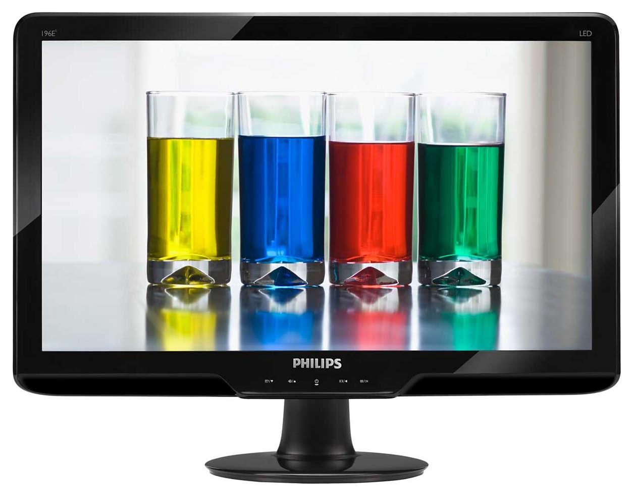 Elegancki monitor LED z naturalnymi kolorami