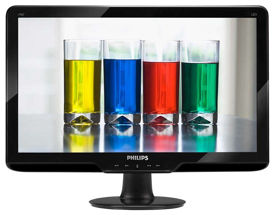 Ecrã LED elegante com cores naturais