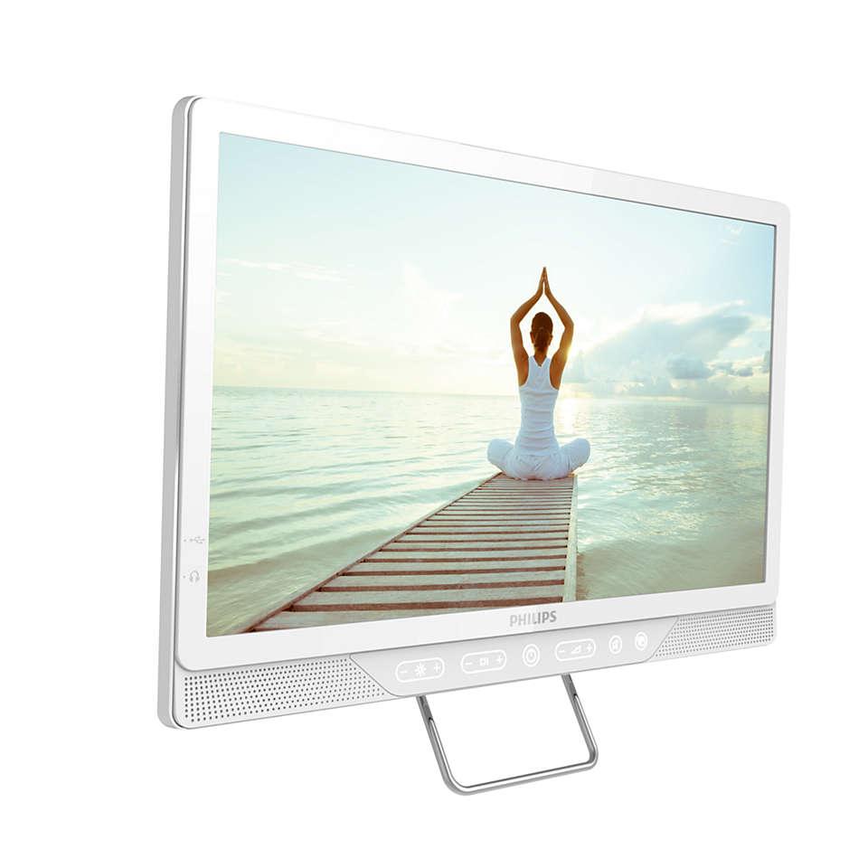 Um televisor de cabeceira exclusivo