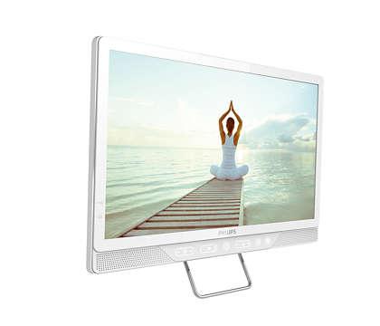 Un televizor unic de noptieră