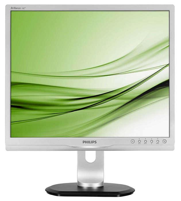 Ergonomiczny monitor zapewnia większą wydajność