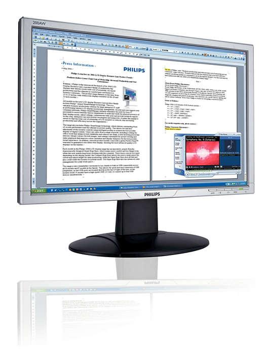 Audio intégré pratique, écran 16:9 compatible WindowsVista