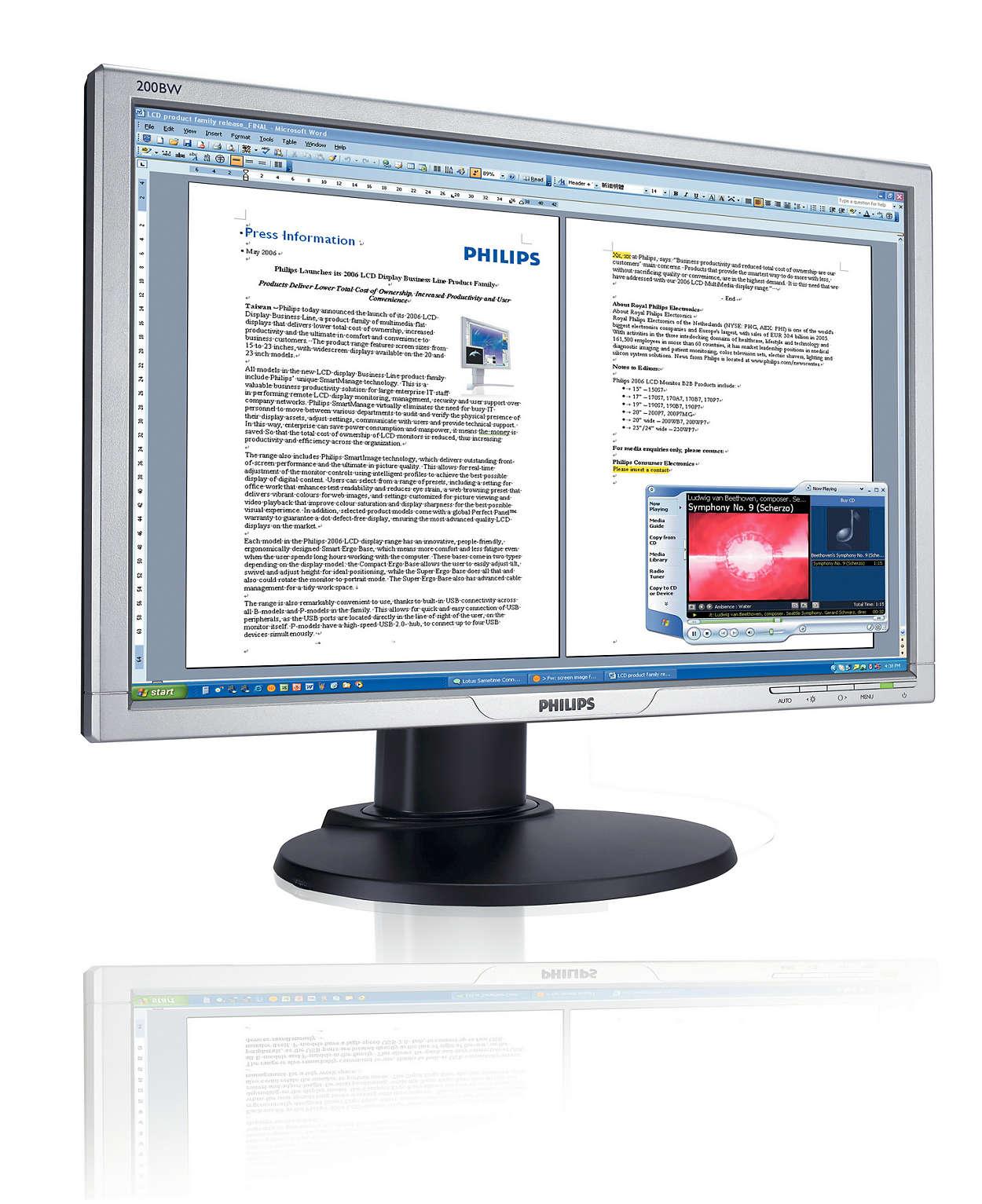 Väčšia a širšia obrazovka: lepšia obchodná produktivita